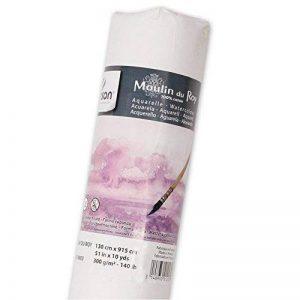 Canson Moulin du Roy Rouleau Papier aquarelle Grain Satin 1,30 x 9,15 m Blanc Naturel de la marque Canson image 0 produit