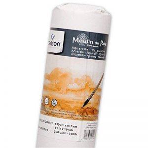 Canson Moulin du Roy Rouleau Papier aquarelle Grain Torchon 1,30 x 9,15 m Blanc Naturel de la marque Canson image 0 produit