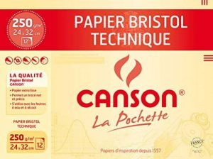 Canson Technique Papier à dessin 24 x 32 cm 12 feuilles Très Blanc de la marque Canson image 0 produit