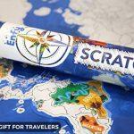 Carte du Monde à Gratter Enfy - Scratch Off World Map - Grand Poster Mural Personnalisé avec des Illustrations Artistiques Faites à la Main - Incluant Tous les Pays d'Europe et les US Etats-unis de la marque Enfy image 2 produit