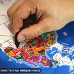 Carte du Monde à Gratter Enfy - Scratch Off World Map - Grand Poster Mural Personnalisé avec des Illustrations Artistiques Faites à la Main - Incluant Tous les Pays d'Europe et les US Etats-unis de la marque Enfy image 3 produit