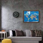 Carte du Monde à Gratter Enfy - Scratch Off World Map - Grand Poster Mural Personnalisé avec des Illustrations Artistiques Faites à la Main - Incluant Tous les Pays d'Europe et les US Etats-unis de la marque Enfy image 4 produit