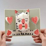 """Chat !"" Carte Pop Up - Pop Up Card - Carte 3 D - Livre d'artiste de la marque Nabarus image 1 produit"
