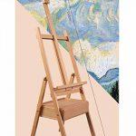 Chevalets Bois de hêtre avec tiroir à tiroir type châssis à peinture à l'huile / plateau à cheval chevalet peinture ( Couleur : D ) de la marque Easels A image 1 produit