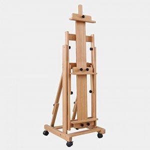 Chevalets Chevalet en bois massif grand chevalet en bois horizontal et vertical multi-usages chevalet en bois à quatre roues chevalet peinture ( taille : 55*57*162-260cm ) de la marque Easels A image 0 produit