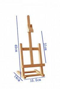 Chevalets Mini-tablette en bois de bois en bois Support en démonstration de bureau Chevalet pour enfants Bureau Lit de chevet chevalet peinture de la marque Easels A image 0 produit