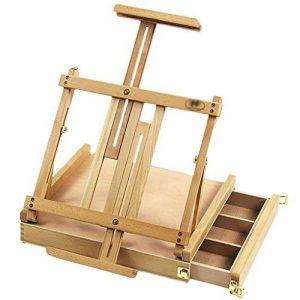 Chevalets Tiroir tiroir tiroir chariot portefeuille en faïence bureautique châssis télescopique en art de bureau boîte à outils en bois chevalet peinture de la marque Easels A image 0 produit
