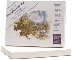 CLAIREFONTAINE 421/1021Z - Un bloc Goldline 100 Feuilles aquarelle 200 g dimension 24x32cm de la marque Clairefontaine image 0 produit