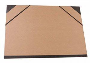 Clairefontaine 44100C Carton à dessin Kraft élastiques 32x45cm Brun de la marque Clairefontaine image 0 produit