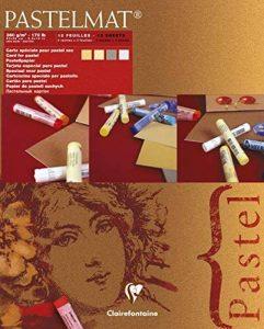 Clairefontaine 96017C Pastelmat bloc collé 12F 24x30cm 360g carte pour pastel Maïs, Bouton d'Or, Gris Foncé, Gris Clair de la marque Clairefontaine image 0 produit