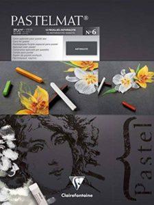 Clairefontaine 96050C Pastelmat bloc collé 12F 30x40cm 360g carte pour pastel Anthracite de la marque Clairefontaine image 0 produit