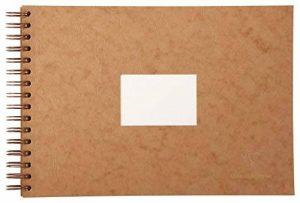 Clairefontaine 96065C Carnet de Voyage album spiralé 20F 21x29,7cm 300g grain torchon Havane - couverture grain cuir de la marque Clairefontaine image 0 produit