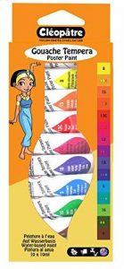 Cléopâtre BL10PGN10 - Peintures Gouache en Tubes - Assortiment de couleurs - 10 Tubes de 10g de la marque Cléopâtre image 0 produit