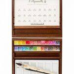 Coffret en noyer de 24 demi-godets d'aquarelles extra-fines + accessoires de la marque Sennelier image 1 produit