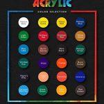 Coffret peinture acrylique – 24 Tubes de 12 ml – Peinture à l'eau Idéale pour tous les Supports – Adapté à la Pâte à Sel, à la Peinture sur Toile et sur Plastique - MozArt Supplies de la marque MozArt Supplies image 2 produit