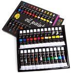 Colore - Ensemble de Peinture à l'huile de haute qualité - Parfait pour l'utilisation sur les Peintures de Paysage et les Portraits sur toile - Idéal pour les artistes professionnels, les étudiants et les débutants - Ensemble de 24 couleurs de peinture à image 1 produit