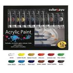 COLORGAYO Set De Peinture En PropylEne Non Toxique De 12ml Avec12 Couleurs de la marque COLORGAYO image 3 produit