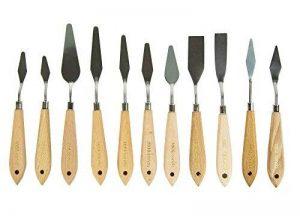 CONDA - Couteau à palette pour peinture - Métal avec manche en bois, A160pk, 11pcs wood color de la marque Conda image 0 produit