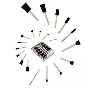 Conda en mousse éponge Manche en bois Pinceaux de peinture (lot de 25) – Léger, durable, acrylique, idéal pour les taches, vernis, travaux manuels de la marque Conda image 0 produit