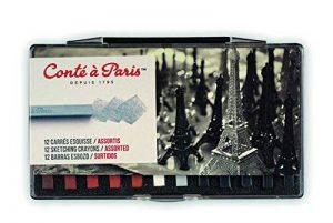 Conté à Paris 50150 Boîte de 12 Esquisses Carré Potrait Assorties de la marque Conté à Paris image 0 produit