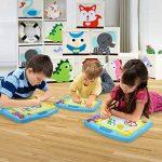 COOLJOY Ardoise Magique Tableau Dessin Magnetique, Planche à Dessin Magnétique pour Bébés Enfants, Croquis Dessin Planche Colorée Effaçable Jouet Educatif- 40 x 31CM - Bleu de la marque COOLJOY image 3 produit