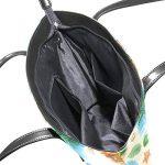 COOSUN Aquarelle modèle sans couture PU Sac à main Sac à bandoulière en cuir et sacs à main Sac fourre-tout pour les femmes Moyen muticolour de la marque COOSUN image 4 produit