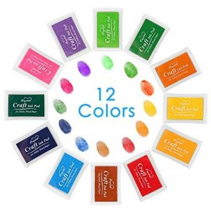 [Coussins Encreurs] Luxebell 12 Couleurs Tampon Encreur/Coussins Encreurs Lavables avec 12 Petite Boîte Indépendante, Bon Cadeau pour les Enfants de la marque Luxebell image 0 produit
