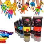 Crafts 4 All Kit de peinture acrylique 12 tubes de 75 ml Pour toile, bois, argile, tissu, nail art, céramique et loisirs créatifs de la marque Crafts 4 ALL image 3 produit
