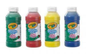 Crayola–4Lot de 4mélange lavable en machine à peinture de la marque Crayola image 0 produit