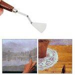 Cusfull 9 Pcs Couteaux Professionnels à Palette avec Poignées Solides En Bois Spatules En Acier Inoxydable Peinture Couteaux Kit d'Outils d' Art de la marque Cusfull image 3 produit