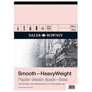 Daler-Rowney Carnet de papier à dessin épais Format A2 Grain fin de la marque Daler Rowney image 0 produit