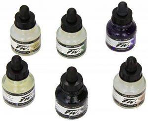 Daler-Rowney FW 29.5ml Acrylic Ink Bottle - Shimmering Colours (Set of 6) de la marque Daler Rowney image 0 produit