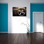 Dark Vintage, peinture sur toile, énorme XXL Photos complètement encadrée avec civière, art impression sur murale avec cadre, moins cher que la peinture ou la peinture à l'huile, aucune affiche ou un poster taille: 120x80 cm de la marque InstyleArt image 3 produit
