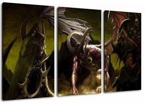 Dark World of Warcraft 3 Pièces sur toile, taille globale: 120x80 cm finis encadrées images art d'impression comme murale - Moins cher que la peinture à l'huile ou de la peinture - non pas une affiche ou une bannière, de la marque PrintArtGallery image 0 produit