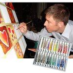 Daveliou Lot de peinture acrylique – 12 ml X 24 tubes de peintures – non toxique Ensemble de peinture acrylique pour les débutants les étudiants et artistes de la marque DAVELIOU image 4 produit
