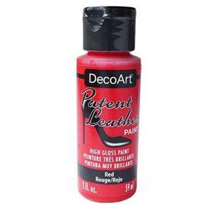 DecoArt Americana Cuir verni Pot de peinture, acrylique, Rouge, 3.5x 3.5x 10cm de la marque Deco Art image 0 produit