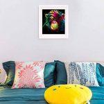 Décor mural de maison Orang-outan coloré, kit de peinture diamant par numéro en 5D, 30cm x 30cm de la marque WesGen image 5 produit