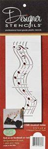 Designer Pochoirs C158t Notes de musique gâteau Pochoir (version courte), Beige/semi-transparent de la marque Designer Stencils image 0 produit
