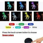 Dinosaures 3D Lampe Veilleuse optique Illusions, tiscen 7Changement de couleur acrylique toucher Tableau Lampe de bureau pour enfants Chambre Noël Cadeaux d'anniversaire de la marque Tiscen image 2 produit