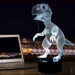 Dinosaures 3D Lampe Veilleuse optique Illusions, tiscen 7Changement de couleur acrylique toucher Tableau Lampe de bureau pour enfants Chambre Noël Cadeaux d'anniversaire de la marque Tiscen image 1 produit