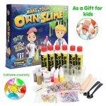 DIY Slime Kit, Vidillo 35 Pack DIY non toxique Slime Soft Clay Putty kits jouet pour les filles des enfants cadeau, cool Magic Slime jouet avec 6 bouteilles de colle, 6 couleurs au néon, 7 tranches colorées et des perles de Slime, 3 paillettes secoue, pou image 4 produit