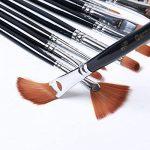 Doutop Brosse de Peinture Pinceaux Peinture Artiste professionnel multifonctions Nylon cheveux Peinture Pinceaux pour Peinture acrylique gouache Huile Aquarelle 12 de la marque Doutop image 3 produit