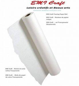 EMI Craft - Rouleau de papier calque - Blanc papier calque Rouleau 40/45gsm 0,33 x 20 m transparent,made in germany de la marque EMI Craft image 0 produit
