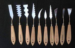 Ensemble 10 pièces de spatules Togood en acier inoxydable, spatules, palettes, couteaux pour artistes de la marque Togood image 0 produit