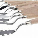 Ensemble 10 pièces de spatules Togood en acier inoxydable, spatules, palettes, couteaux pour artistes de la marque Togood image 3 produit