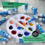 Ensemble de 24 tubes de peinture aquarelle par Zenacolor - Pack de 24 x 12mL - Peinture de qualité supérieure et non toxique - 24 Couleurs uniques et différentes - Idéal pour débutant ou professionnel - Pigments riches et sèche rapide - Facile à peindre s image 3 produit
