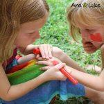 Ensemble de Crayons de Peinture de Visage Grandes, 12 Bâtons de Peinture de Corps de couleur vive lavable non-toxique. Facile à utiliser, à base d'eau, durable. Idéal pour les Enfants, Noël, de la marque Ava and Frank image 3 produit