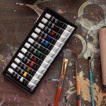 Ensemble de peinture acrylique Colore - parfait pour la peinture sur toile, argile, tissu, ongles et céramique - Pigments riches avec une qualité durable - Idéal pour les débutants, les étudiants et les artistes professionnels - Ensemble de 12 de la marqu image 1 produit