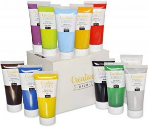 Ensemble de Peinture Acrylique XXL - 12 GROS tubes 100 ml - Fabriqué en UE - Idéal pour Débutants Étudiants Artistes Professionnels - Idéal pour Bois Toile Tissu et Papier - Tube de 12 x 100 ml de la marque Creative Deco image 0 produit
