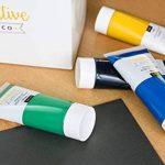 Ensemble de Peinture Acrylique XXL - 12 GROS tubes 100 ml - Fabriqué en UE - Idéal pour Débutants Étudiants Artistes Professionnels - Idéal pour Bois Toile Tissu et Papier - Tube de 12 x 100 ml de la marque Creative Deco image 5 produit